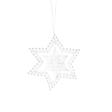 Macrame Starlight Ornament