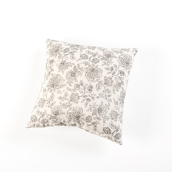 Amish-Made Floral Pillows – Gray