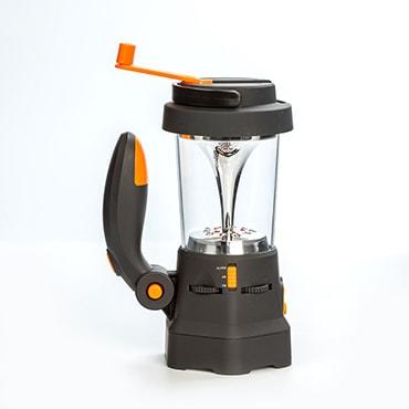 Hand-Cranked Lantern, Spotlight & Alarm