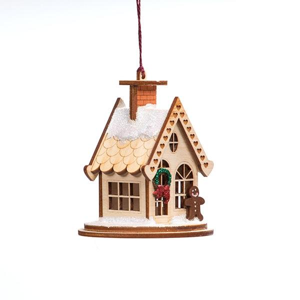 Handmade Gingerbread Cottage Ornament