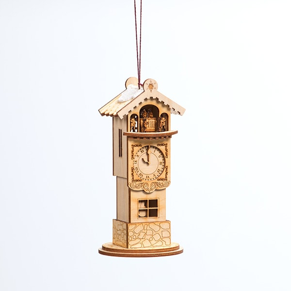 Handmade Clock Tower Ornament