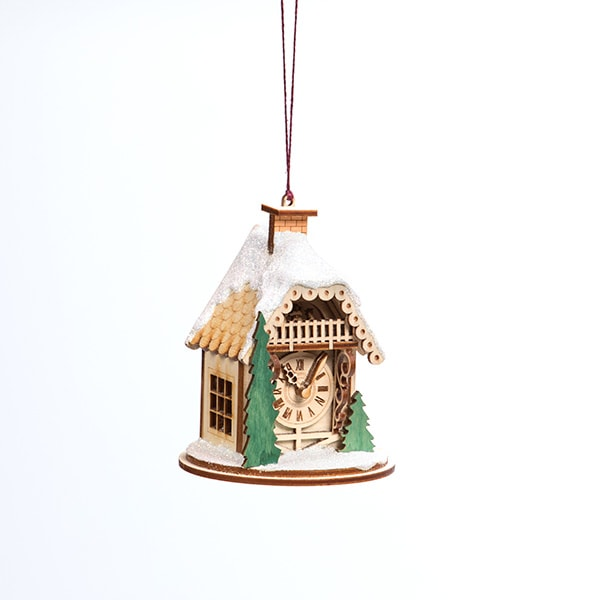 Handmade Alpine Time Clock Shop Ornament