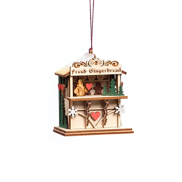 Handmade Ginger Market Ornament