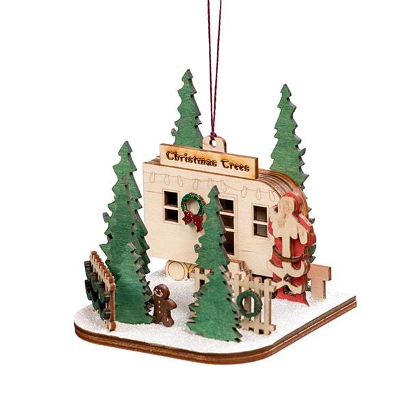 Handmade Christmas Tree Lot Ornament