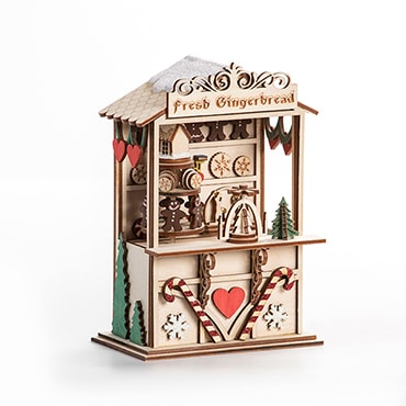 Gingerbread Town Christmas Music Box