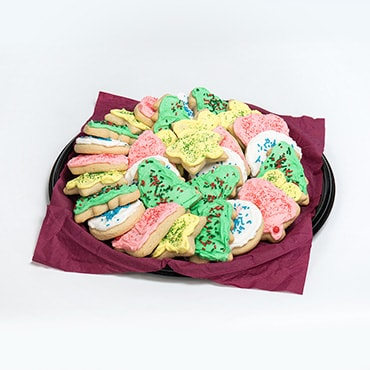Christmas Cut-Out Sugar Cookie Tray