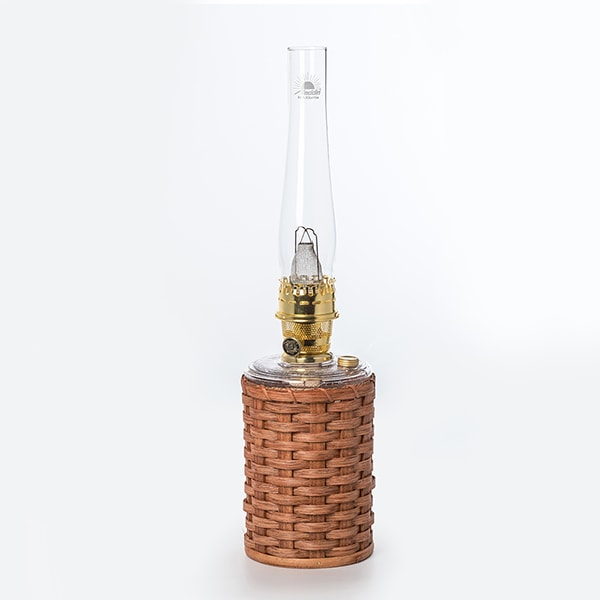 Artisan Wicker Lamp Set with Aladdin Genie III Lamp