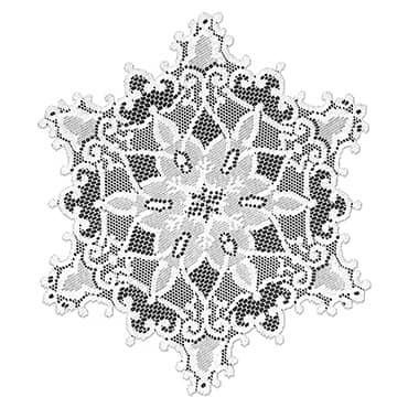 """Snowflake Doily Set - 12""""OD"""