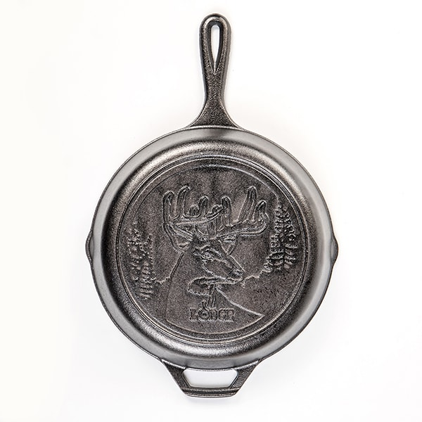 "Lodge Cast Iron 10.25"" Deer Skillet"