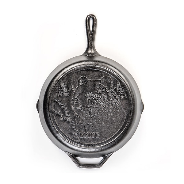 "Lodge Cast Iron 12"" Bear Skillet"
