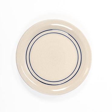 Heritage Blue Stripe Stoneware Salad Plate