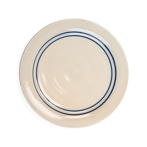 Heritage Blue Stripe Stoneware Dinner Plate