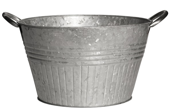 Galvanized Planter Tubs With Metal Handles Lehman S