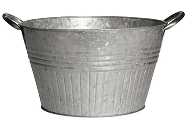 Galvanized Planter Tubs with Metal Handles