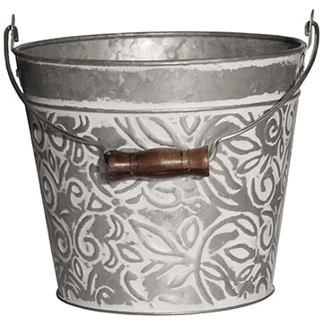 Galvanized Floral Bucket Planters