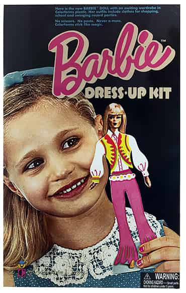 Retro Dress-Up Barbie Dress Colorforms