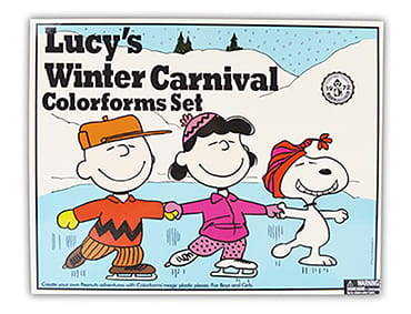 Lucy's Winter Carnival Colorforms