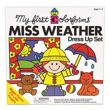 My First Colorforms Miss Weather Dress Up Set
