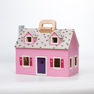 Fold and Go Wooden Dollhouse