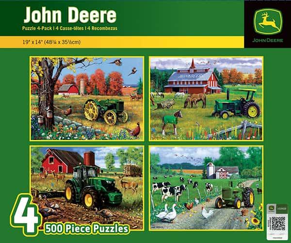 John Deere Jigsaw Puzzles – Pack of 4