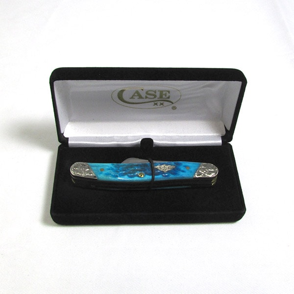 Case Caribbean Blue Bone Medium Stockman Knife