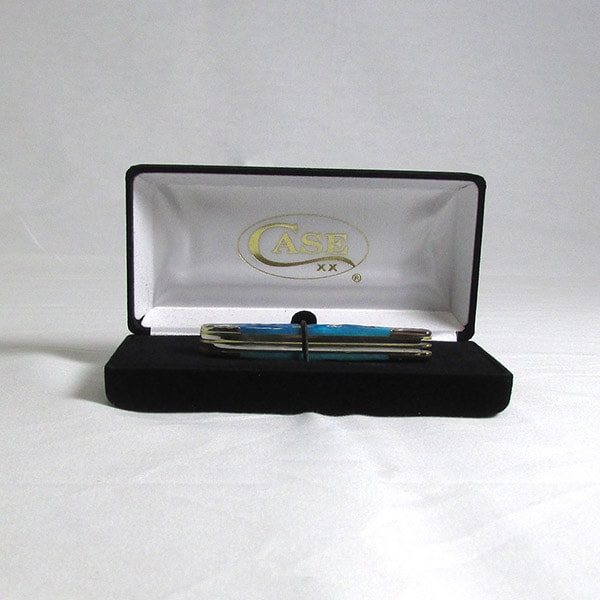Case Caribbean Blue Bone Peanut Knife