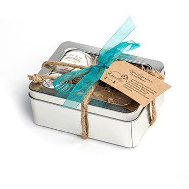 Green Pastures Spa Experience Bath Tin with Lip Balm