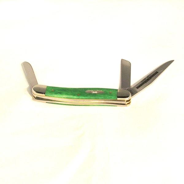 Case Limited Edition XX Series 34 Bright Green Bone Medium Stockman Knife