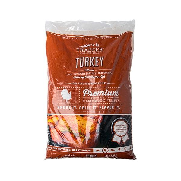 Traeger Turkey Pellet Blend with Brine Kit