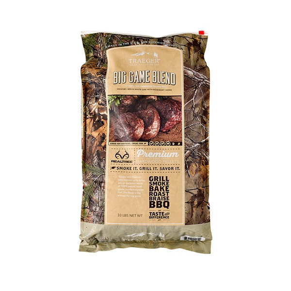 Traeger Realtree Big Game Blend Hardwood Grill Pellets