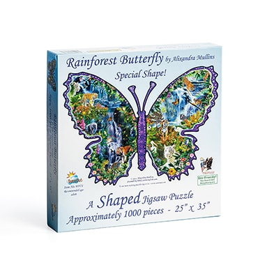 Shaped Jigsaw Puzzle – Butterfly