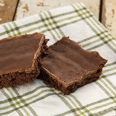 Gluten-Free Iced Brownies from the Bakery