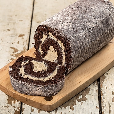 Chocolate Peanut Butter Cake Roll