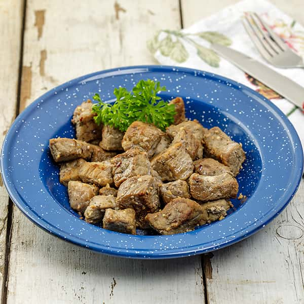 Freeze-Dried Top Round Beef Cubes