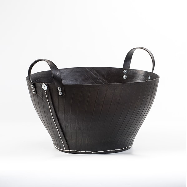Recycled Rubber Firewood Basket