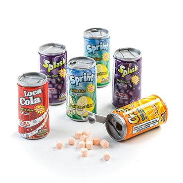 Soda Can Fizzy Candy - 5 Packs