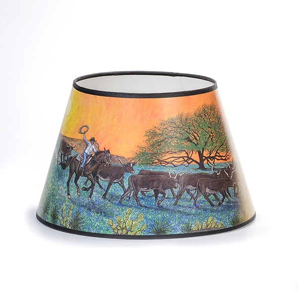 Aladdin Ride into Sunset Parchment Oil Lamp Shade
