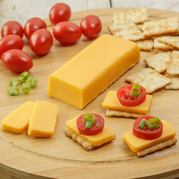 Shelf-Stable Cheddar Cheese Food - Five 4-oz Pack