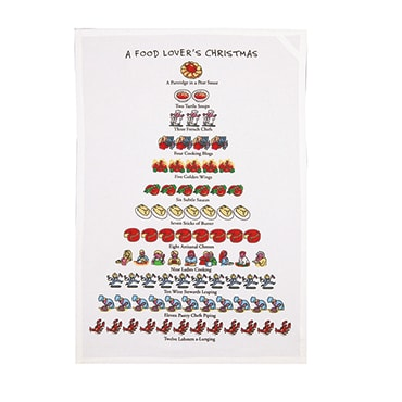 Twelve Days of Christmas Flour Sack Towels