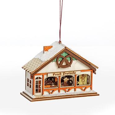 Handmade Peppermint Twist Pretzel Shop Ornament