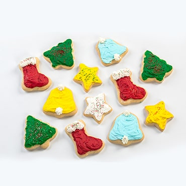 Mini Christmas Cut-Out Cookie Tray