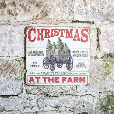 Christmas at the Farm Wooden Sign