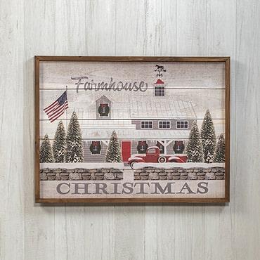 Farmhouse Christmas Wooden Sign