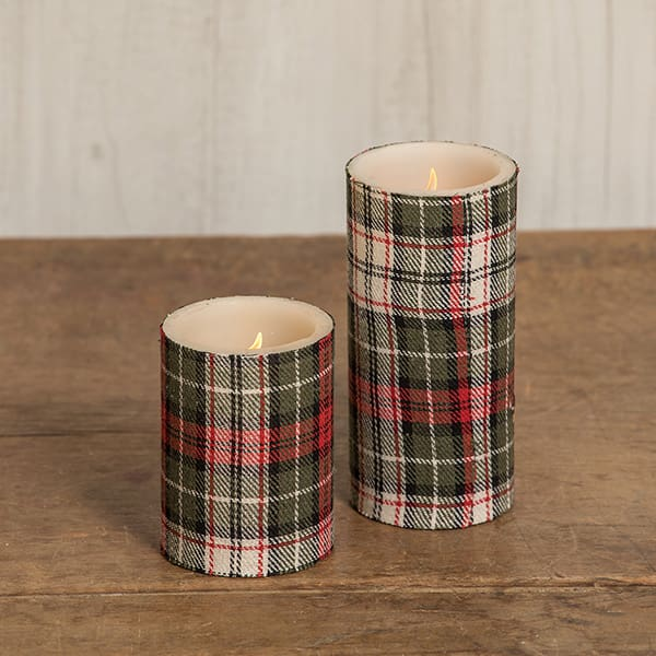 Holiday Battery-Operated Pillar Candle