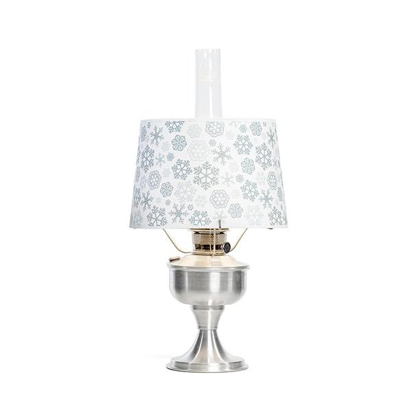 Aladdin Snowflake Aluminum Table Oil Lamp Set