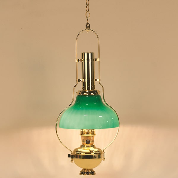 Aladdin Hanging Brass Chandelier Oil Lamp