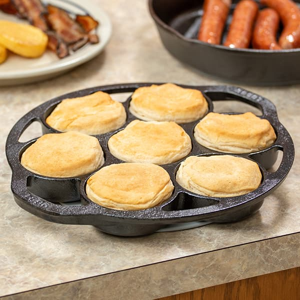 Lodge Logic Cast Iron Drop Biscuit Pan
