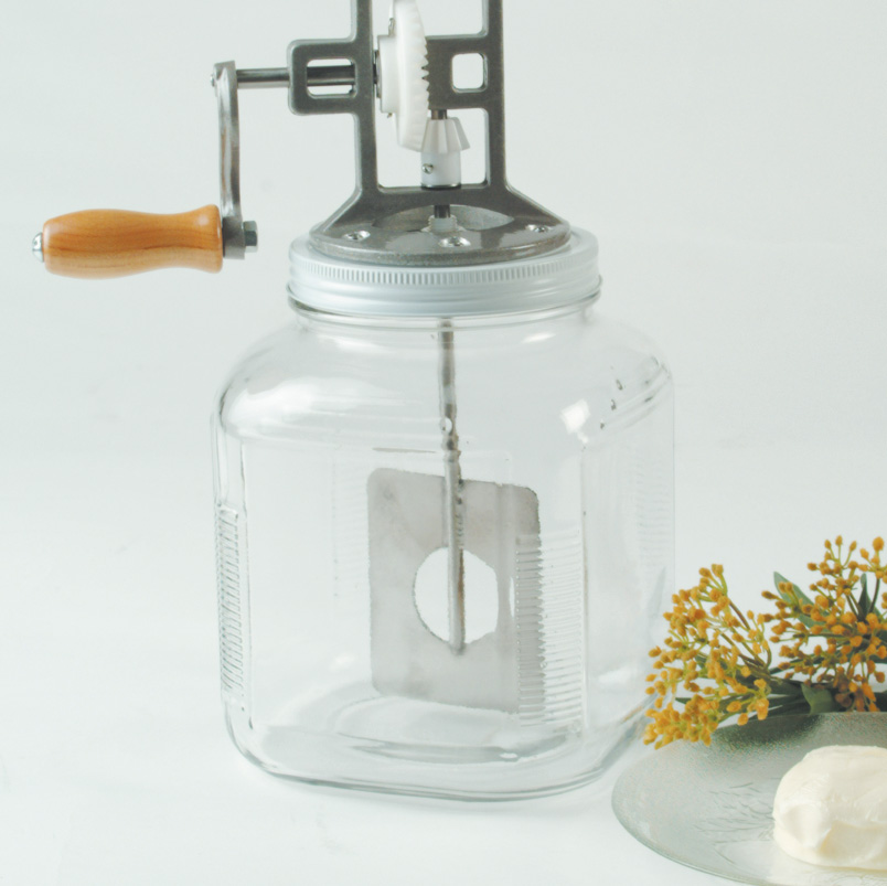 Square 1 gallon replacement Butter Churn Jar