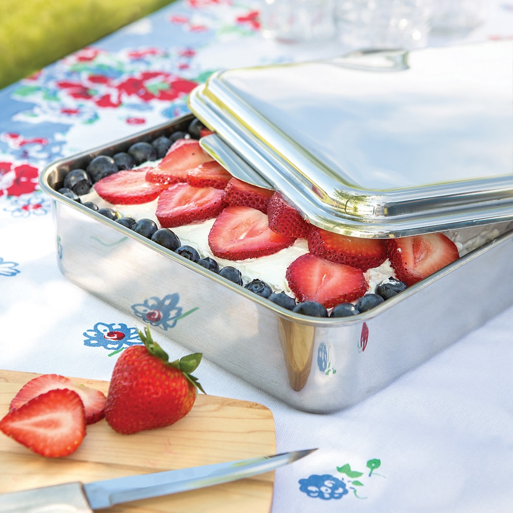 Stainless Steel Cake Pan with Lid - SALE $29.99 - BUY NOW