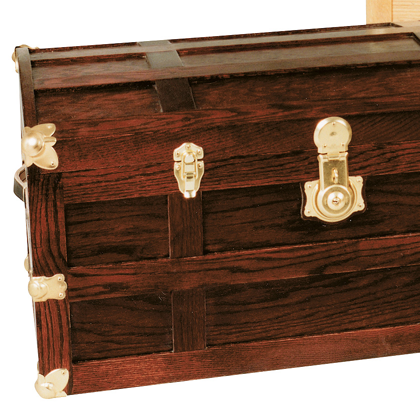 Reproduction Steamer Trunks - Black Cherry Finish